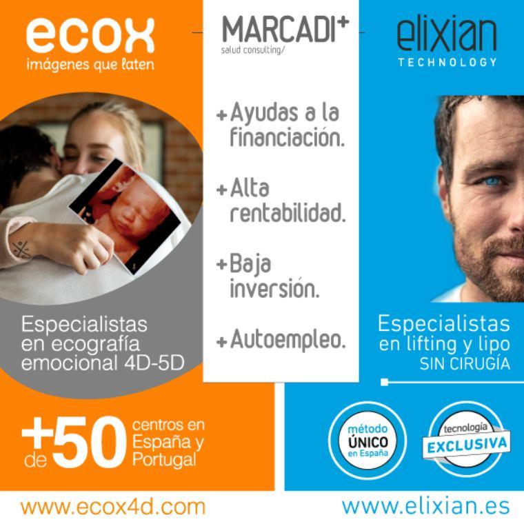 Grupo Marcadi Salud, ECOX4D-5D Y ELIXIAN TECHNOLOGY seleccionan franquiciados en Cataluña
