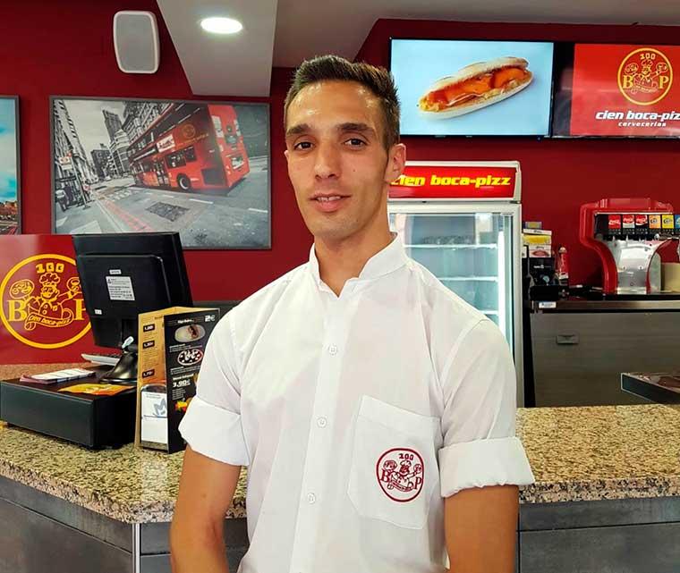 """""""Ahora como franquiciado estoy más apoyado aún"""", afirma José Antonio Garrido García franquiciado de Cien Boca-Pizz"""