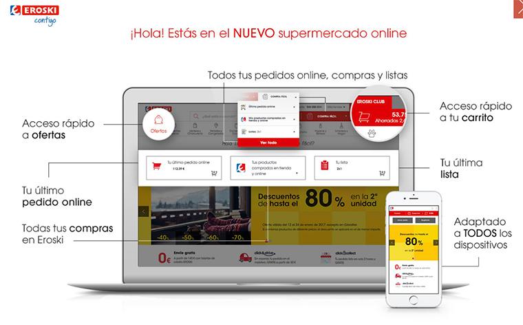 Nuevo supermercado online de Eroski