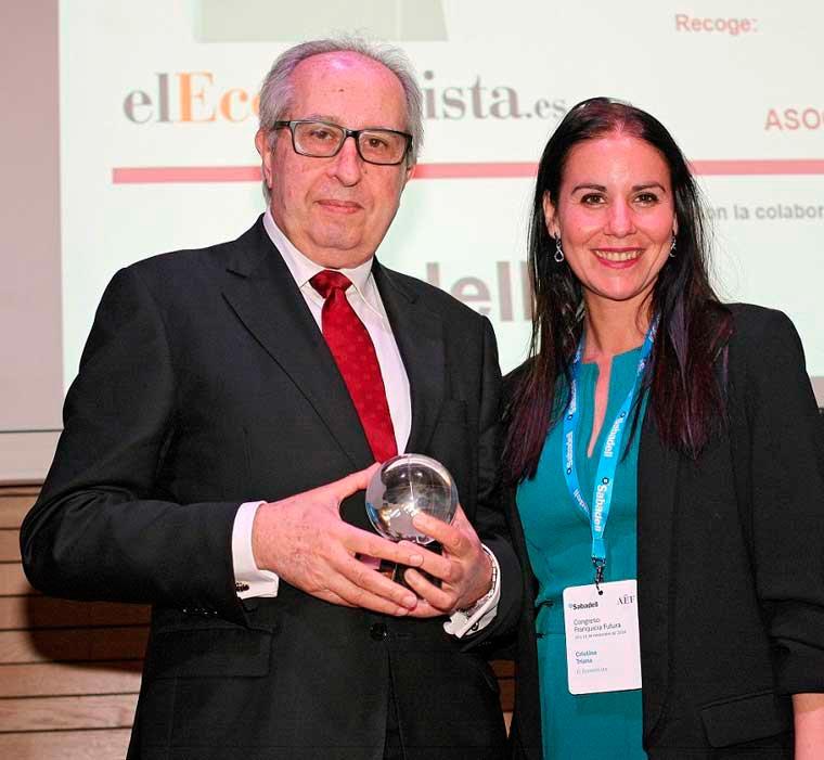 Premian a Xavier Vallhonrat, presidente de la AEF, en el Congreso Ff Franquicia futura