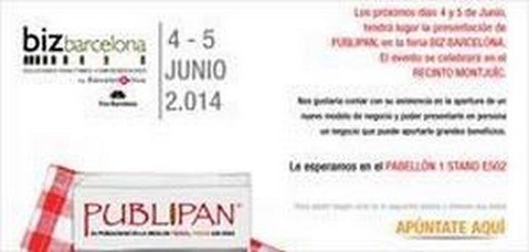 PUBLIPAN vuelve a la feria del Biz Barcelona 2014 para informar de su opción de negocio.