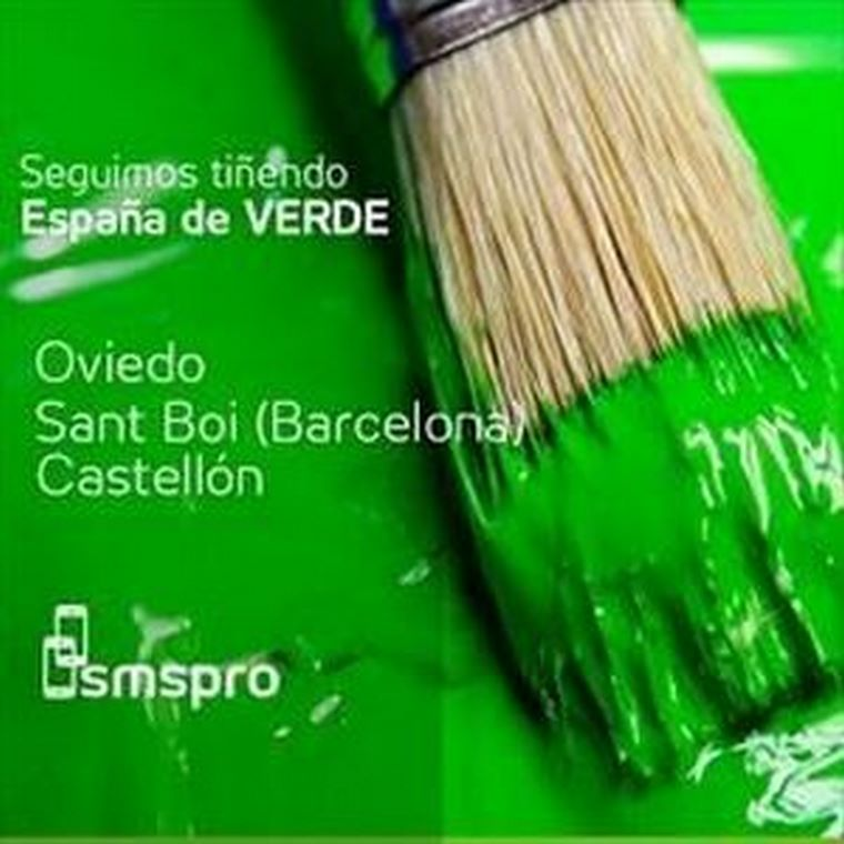 SMSPRO: Seguimos tiñendo España de verde