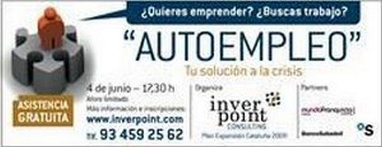 """Última oportunidad de asistir a la conferencia """"Autoempleo: una alternativa en tiempos de crisis"""""""