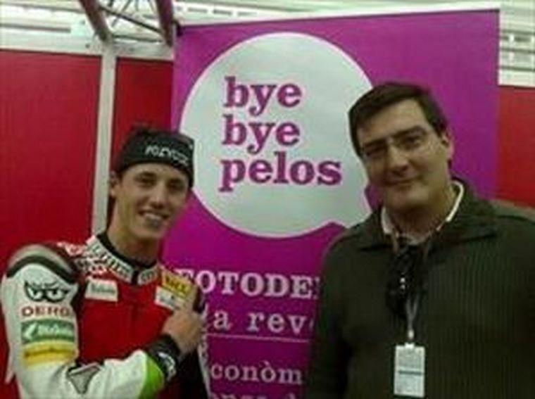 Pol Espargaró recibe el soporte de Bye Bye Pelos