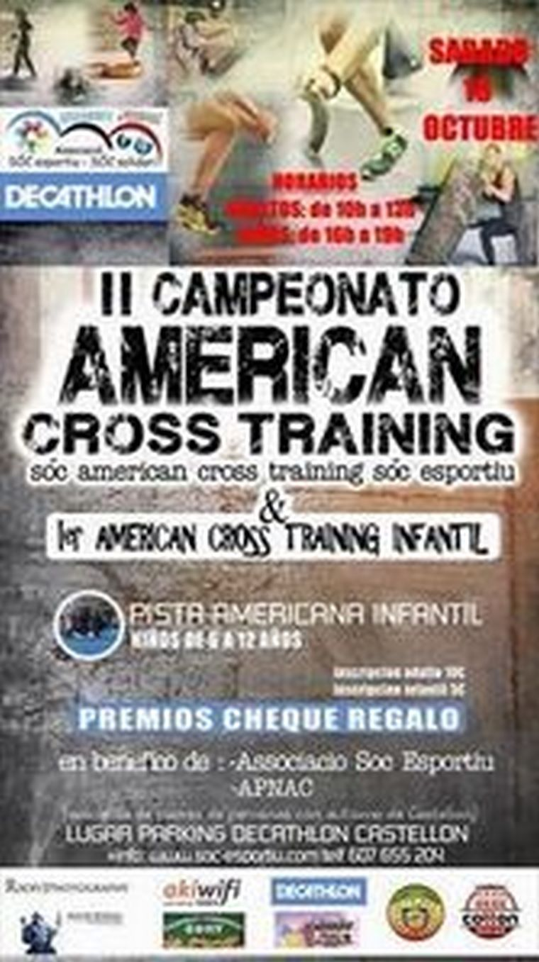 II American Cross Training en Decathlon con AKIWIFI