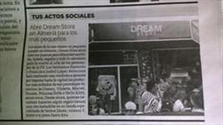 La prensa estuvo presente en la inauguración de Dream Store.