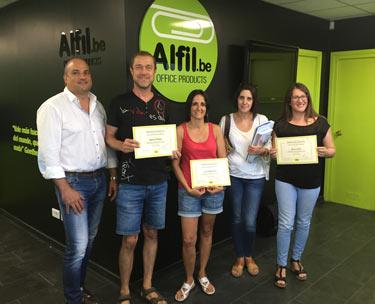 El grupo Alfil.be finaliza la formación del nuevo franquiciado de Vilanova i la Geltrú, Barcelona