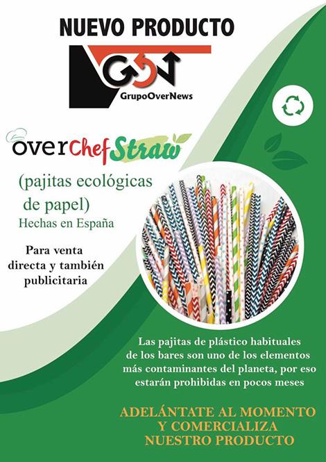Grupo OverNews lanza un nuevo producto, pajitas ecológicas de papel